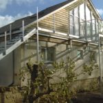 Glass balustrade and staircase