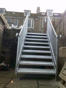 External galvanised Stairs