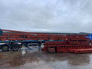 70 tonnes of primed steelwork